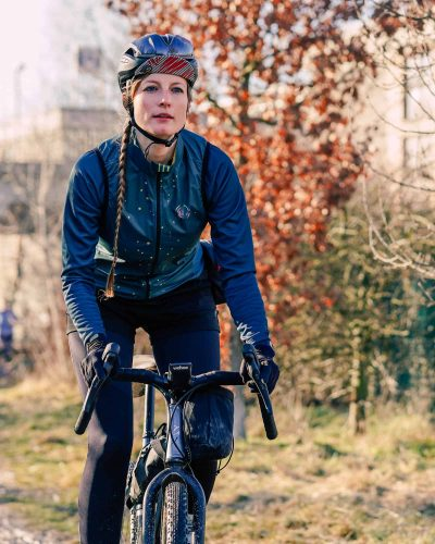 Close up: Jule on the bike