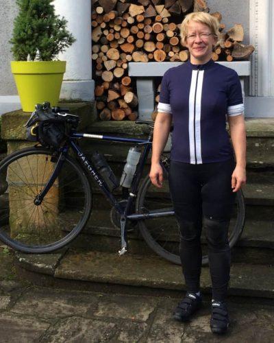 Eva and her bike