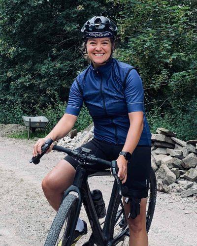 female cyclist portrait jule wagner